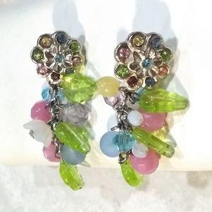 NWOT Robert Rose Silver Tone Flower Earrings